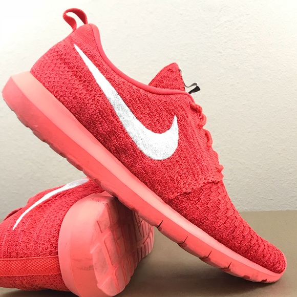 Nike Other - Nike Roshe Bright Red Flyknit Men's Running Shoe
